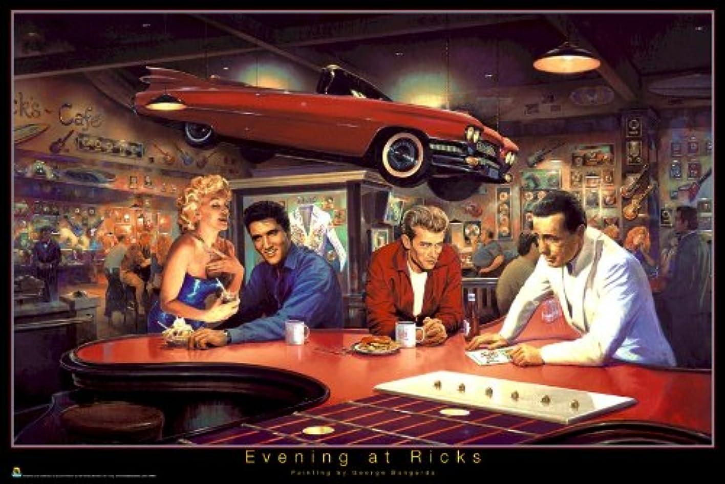 バンジョー接続された世界の窓リック24×36マリリンジェームズディーンエルヴィスポスター平行輸入