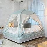 タスミ 暖房テント シグネチャー 4door Sサイズ ミント IDOOGEN 正規輸入元 コットン質感 洗える 簡単コンパクト収納 ハウスダスト対策 省エネ 室内テント