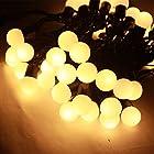 5M 50球 LED小さなボールストリング LEDイルミネーションライト 結婚式、ホームパーティー お誕生日パーティー クリスマスなどに最適 電飾 (電球色)