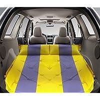 ASL SUV車のインフレータブルベッド、屋外多機能自動インフレータブルパッドのトランクインフレータブルベッドカーショックベッド192 * 132センチメートルは、縫うことができます HAPPY ( 色 : イエロー いえろ゜ , サイズ さいず : 192*132*5CM )