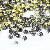 ガラス製 Vカットストーン(埋込型)black diamond/ブラックダイアモンド 各サイズ選択可能 (2.4mm (SS8) 約1440粒) [並行輸入品]