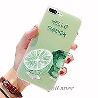 ZhiLaner iPhone8 ケース iPhone X カバー iPhone7/8 plus ケース アイフォンケース 果物 iPhone X ケース 7 8Plus ケース 7Plus 6s 6sPlus ケース アイフォン6s アイフォン8 プラス ケース iPhone X ケース iPhone8 iPhone7 耐衝撃 保護カバー レモン 柄 可愛い アイフォンカバー 衝撃吸収 スマホケース