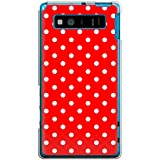CaseMarket 【ポリカ型】 au AQUOS PHONE SERIE SHL21 ポリカーボネート素材 ハードケース [ ドット キュート パターン - レッド ]