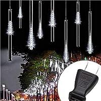 MYJP イルミネーションライト LED クリスマスライト フォールライト PSE認証済み 流星 防水 30CM/本 10本セット(ホワイト)