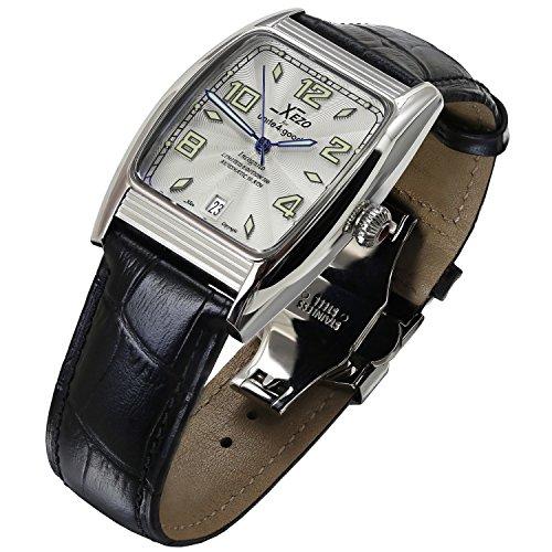 Xezo for Unite4:good インコグニト・トノーLサイズ自動時計、スイス製サファイアクリスタル使用、シチズン式ムーブメント、耐水性:10ATM、レトロ・スタイル。[並行輸入品]