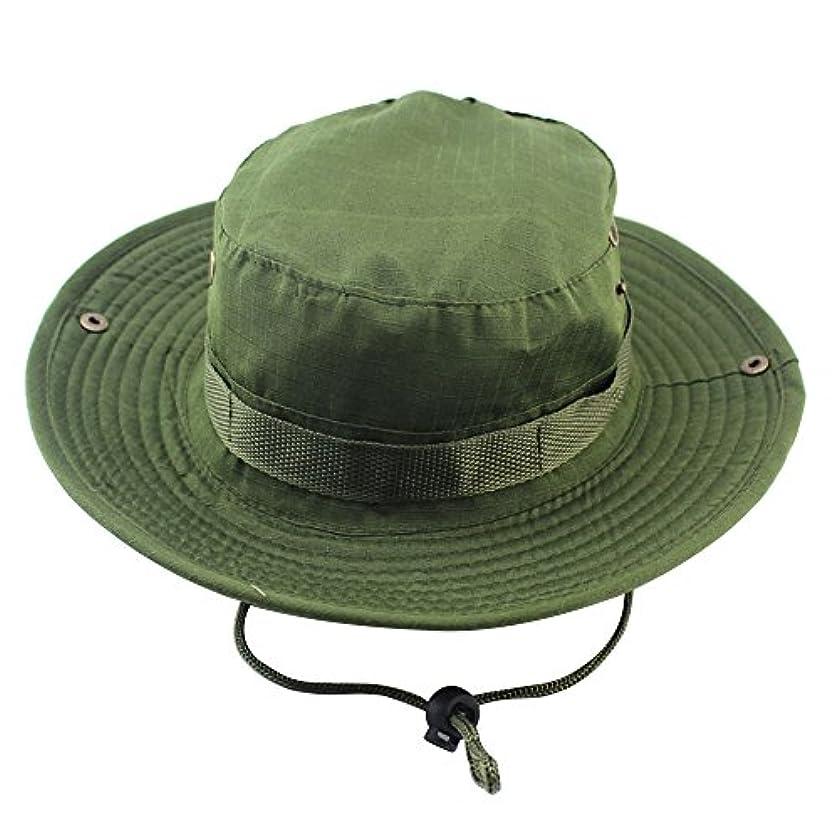死んでいる完璧口述するMeanhoo迷彩釣りスナップつばMilitary帽子ワイドつばバケットアウトドアBoonie Hat