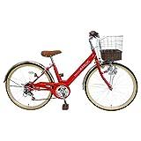 My Pallas(マイパラス) 子ども用自転車 M-811 24インチ 6段変速 レッド