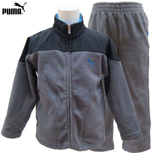 PUMA プーマキッズ ジュニア フリース ジップアップ ジャケットパンツ 上下セット -4=110cm
