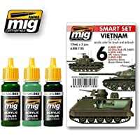 Ammo of Mig VIETNAM colours SET Acrylic Colours 3 Jars 17ml 7135