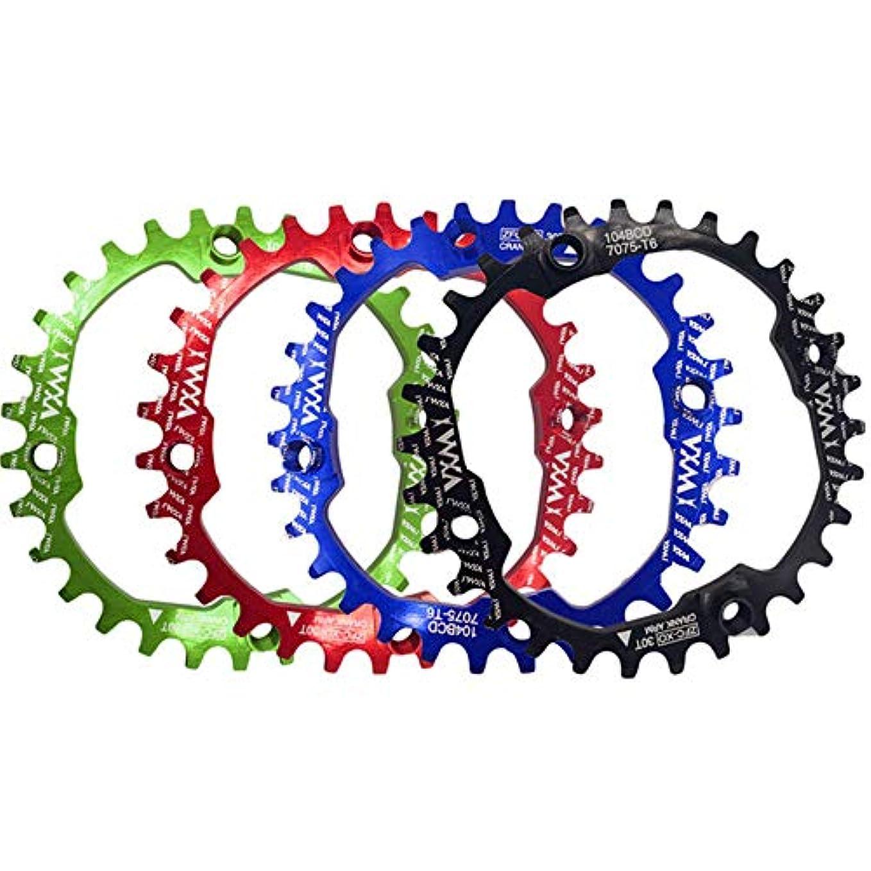 おんどりサーキュレーションジャンプチェーンリング ロードバイク用104 BCDナローワイドチェーンリングマウンテンバイクBMX MTBバイク 自転車用 (色 : 緑, サイズ : Round 30T)