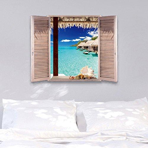 RoomClip商品情報 - 【ノーブランド品】ウォール ステッカー  はがせる 壁紙 壁シール 3D 飾り ドア 窓 家具 ビュービー形