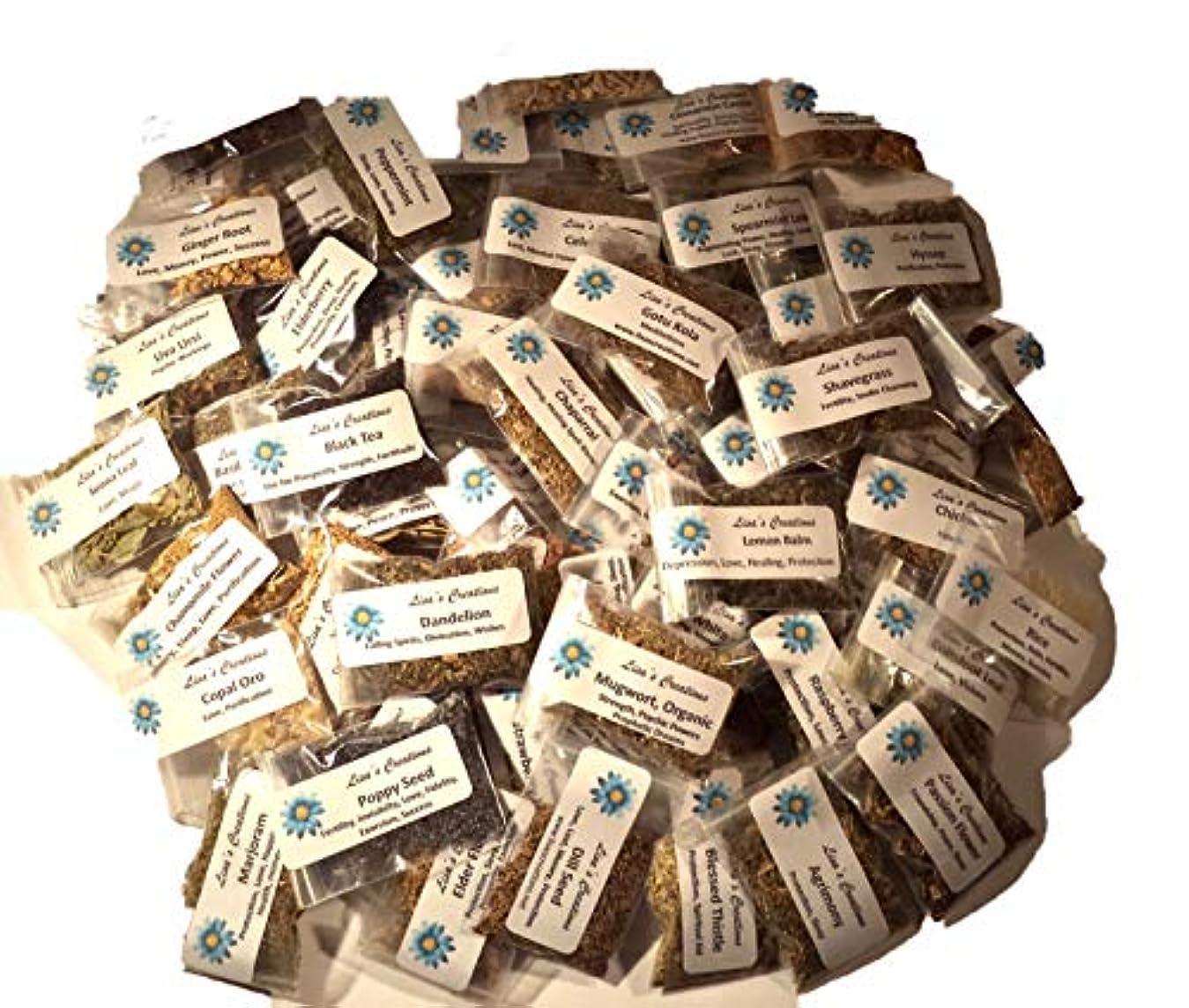 オークランドパイル注釈を付けるLisa 's Creations、Inc 50 Herbサンプラーキットを、チャコール、ホワイトセージWand andハンドメイド3