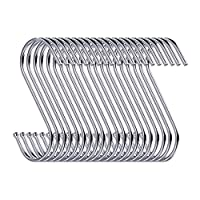 20 Pack S Shaped Hanging Hooks 3.5'' Hangers for Kitchen, Bathroom, Bedroom and Office