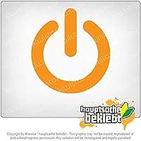 電源オン - オン/オフスイッチ Power ON - On / Off switch 11cm x 10cm 15色 - ネオン+クロム! ステッカービニールオートバイ
