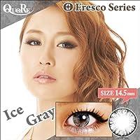 カラコン 度なし 1箱2枚入り QuoRe Fresco Series/ソブレ/119228 14.5mm【IceGray--0.00】