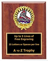 In Line Skating Plaque Trophy 6 x 8 WoodスポーツローラーホッケーTournament Trophies Awards Free Engraving