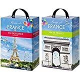 【フランスが誇るバックインボックスでの高コスパ・アソートワインセット】 ボードフランス 2,250ml×2本