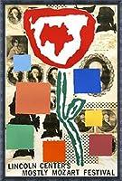 ポスター ドナルド バチェラー モストリー モーツァルト フェスティバル 1995年 限定800枚 額装品 デコラティブフレーム(ブラック)