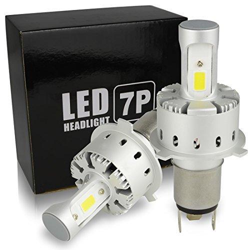 Safego H4 Hi/Lo LED 車検対応 ヘッドライト 6000K 電球 キット車用 12000(6000 x 2)ルーメン 高輝度 COB チップ搭載 LEDバルブ 変換 キット 12v 置き換 車 ハロゲン ライト HID 電球 一体型 一年保障