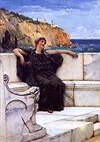 手描き-キャンバスの油絵 - Resting ロマンチック Sir Lawrence Alma Tadema 芸術 作品 洋画 ウォールアートデコレーション -サイズ18