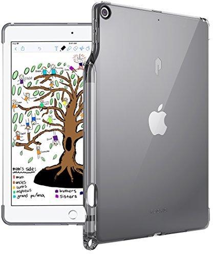 iPad 9.7 2018 ケース Poetic -[Lumos Series] [ウルトラスリム] [TPU製 ケース] Smart Keyboard 対応 Apple Pencil 収納スロット付き,グレー