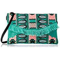 zoda Women's Daja Clutch, Green/Pink, One Size