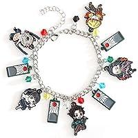 Demon Slayer : Kimetsu no Yaiba Fashion Novelty Anime Manga Series Sun Breathing Kagura Pendant Tanjirō Kamado Nezuko Kamado Zenitsu Agatsuma Inosuke Hashibira Kanao Tsuyuri Bracelet Accessories