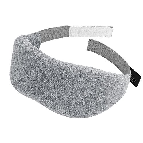 PLEMO アイマスク 立体型 超ソフト 優れる通気性 フィット感 快眠グッズ 男女兼用 睡眠補助 睡眠 旅行に最適 2色 (グレー)