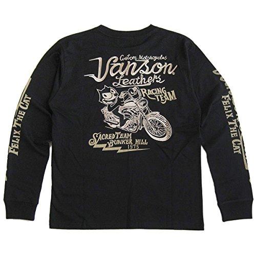 (バンソン)VANSON フィリックス・ザ・キャット(FELIX THE CAT) コラボ メンズ 天竺長袖Tシャツ(ロンT) S
