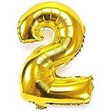 ちょうど良い大きさ 数字バルーン ゴールド 誕生日 ウェディング パーティーに (2)