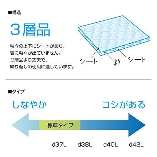 緩衝材 プチプチ 川上産業 d40L 三層品 幅600mm×全長42m ナチュラル(半透明)
