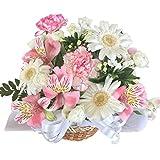 HanaDokoroかんも屋特製 『笑み花』 フラワーアレンジ フラワーギフト 白系 記念日 お誕生日 お祝い 手書きメッセージカード 大切な人へのサプライズプレゼントに (Aアレンジ) HanaDokoro「かんも屋」 A1007