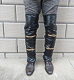 GFYFS L.O.K 寒さ対策万全!防寒 足をしっかりガード レッグウォーマー バイク+ LEDミニライト (M)