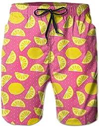 夏のレモン メンズ サーフパンツ 水陸両用 水着 海パン ビーチパンツ 短パン ショーツ ショートパンツ 大きいサイズ ハワイ風 アロハ 大人気 おしゃれ 通気 速乾
