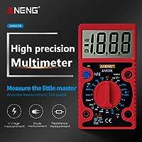 Shenghe ANENG AN8206ミニデジタルマルチメーターブザー方形波出力アンペア電圧オームテスタープローブ電子マルチメーター 赤