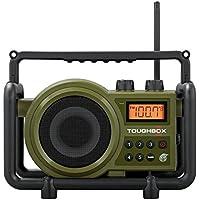 充電式ラジオ、ハンドヘルドRugged Sangean FM AMラジオRechargable、グリーン