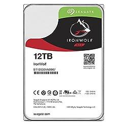 Seagate IronWolf 12TB【 3年保証  】24時間稼働 PC NAS向け 正規代理店 3.5インチ HDD 内蔵ハードディスク SATA 6Gb/s 7200rpm  RVセンサー