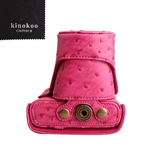 kinokoo  Nikon ミラーレス一眼 J1 /J2 専用カメラケース Nikon J3 /J4 /S1ミラーレス一眼カメラ 対応 10-30 mm / 30-110mm レンズ 対応 三脚ネジ穴付き ショルダーストラップ 標識クロス付き(MH)