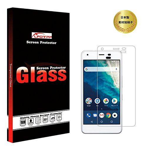 Android One S4 強化ガラス 液晶保護フィルム 2.5D 日本製素材旭硝子 硬度9H 高鮮明 高感度タッチ 防指紋 気泡防止 飛散防止 LFOTPP