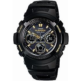 CASIO(カシオ) 腕時計 G-SHOCK BLACK × GOLD Series タフソーラー 電波時計 MULTIBAND 5 AWG-100BC-1AJF メンズ