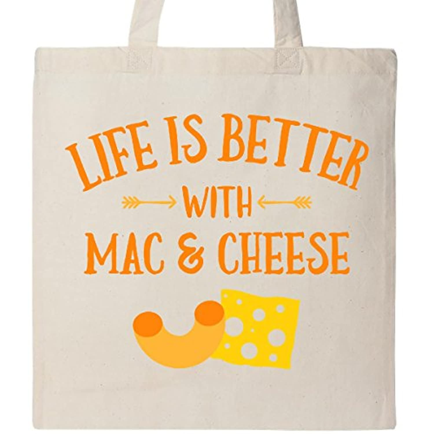 Inktastic Life 's Better Mac & Cheeseトートバッグ One Size