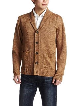 Linen Shawl Collar Cardigan 38-15-0037-048: Beige
