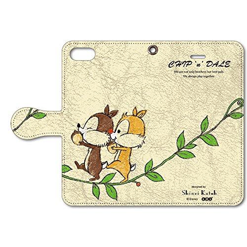 Disney (ディズニー) iPhone SE 5 / 5s 手帳型 ケース カバー 革 / カード収納 / スタンド / スマホケース / 横開き