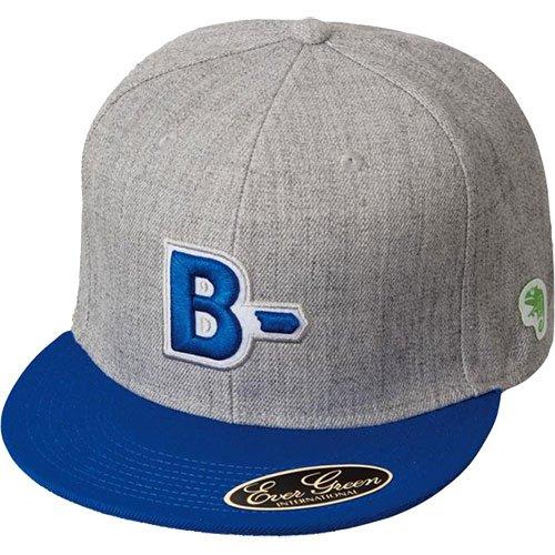 エバーグリーン(EVERGREEN) B-TRUE フラットキャップ タイプB ブルー×グレー
