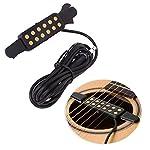 Luvay ギター ピックアップ アコースティックギター適用 エレクトリック転換、ケーブル長さ3m ( 金色 )