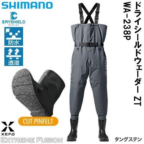 シマノ ウェーダー  XEFO・ドライシールドウェーダー (中丸チェストハイ・カットピンフェルトソールタイプ)...