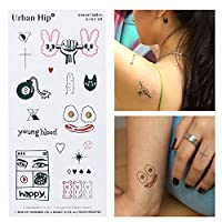 Instant Tattoo, 本物のようなタトゥーシール More Realistic New Temporary Tattoos (2sheet) (Urban Hip)