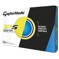 TAYLOR MADE(テーラーメイド) ゴルフボール TP5 ゴルフボール(1ダース12個入り) 2018年モデル ボールカラー:イエロー メンズ B1350301 イエロー ディンプル:322シームレス カバー:ウレタン