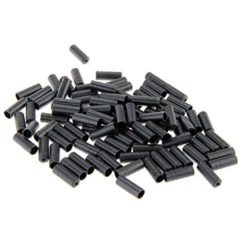 表面的なコレクションマイクロプロセッサキャップ 自転車ブレーキケーブルキャップ 高品質 プラスチック 100個入り 4mm