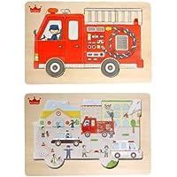 木のおもちゃ 知育玩具 go!go!fire truck